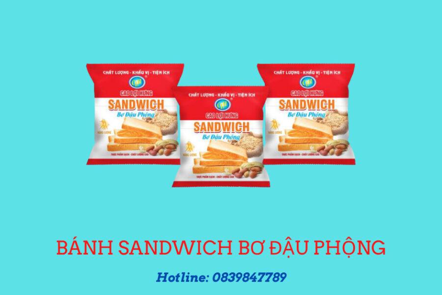 sandwwich bơ đậu phộng
