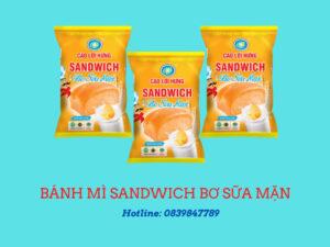 bánh mì sand wich bơ sữa mặn